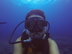 Diving selfie