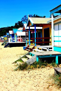 Australia beach huts