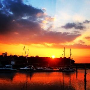 Solent sunset